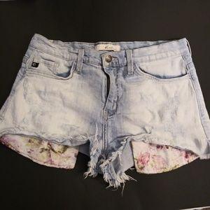 KanCan Destressed Jean Shorts